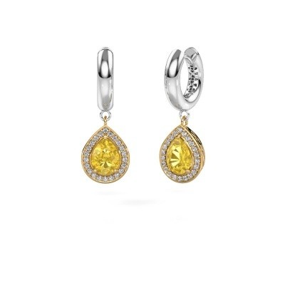 Picture of Drop earrings Barbar 1 585 gold yellow sapphire 8x6 mm
