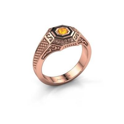 Foto van Heren ring Dion 375 rosé goud citrien 4 mm