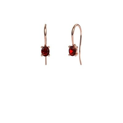 Picture of Drop earrings Cleo 375 rose gold garnet 6x4 mm