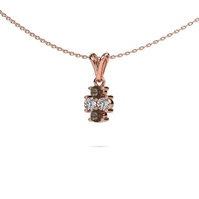 Picture of Necklace Richelle 585 rose gold smokey quartz 3 mm
