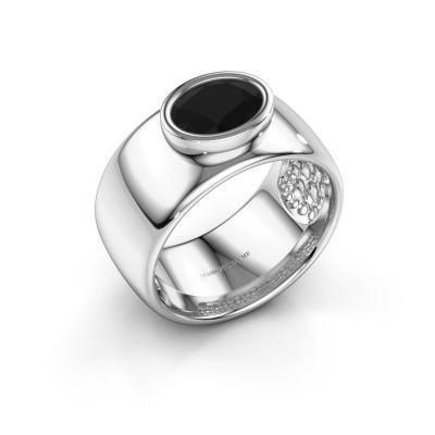 Foto van Ring Anouschka 925 zilver zwarte diamant 1.380 crt