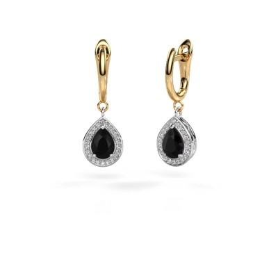 Picture of Drop earrings Ginger 1 585 white gold black diamond 1.67 crt