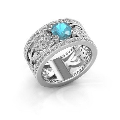 Picture of Ring Severine 585 white gold blue topaz 6 mm