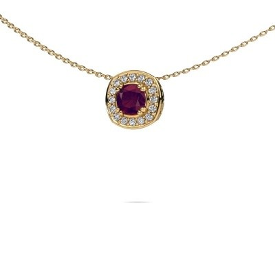 Picture of Necklace Carolina 585 gold rhodolite 5 mm