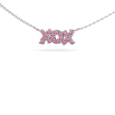 Picture of Necklace XoX 585 white gold pink sapphire 1.5 mm