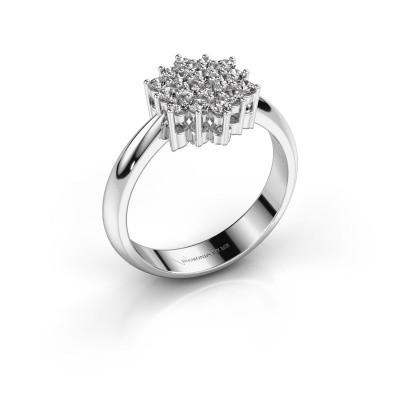 Ring Bente 585 witgoud diamant 0.532 crt