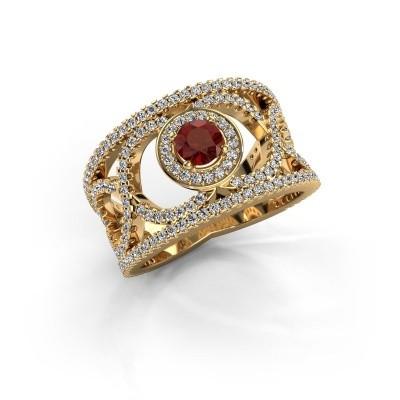 Foto van Ring Regina 585 goud granaat 4.2 mm