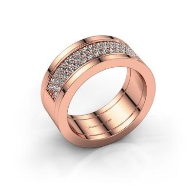 Foto van Ring Marita 5 585 rosé goud lab created 1.06 crt