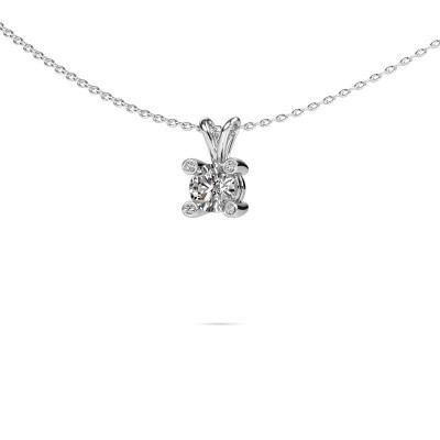 Foto van Hanger Fleur 950 platina diamant 0.527 crt