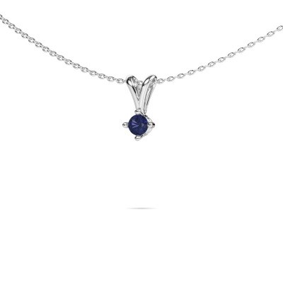 Picture of Necklace Jannette 950 platinum sapphire 3.7 mm