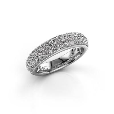 Ring Emely 6 585 witgoud diamant 0.952 crt