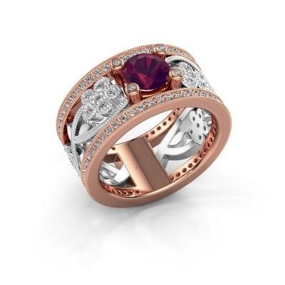 Foto van Ring Severine 585 rosé goud rhodoliet 6 mm