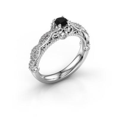 Bild von Verlobungsring Chantelle 585 Weissgold Schwarz Diamant 0.656 crt