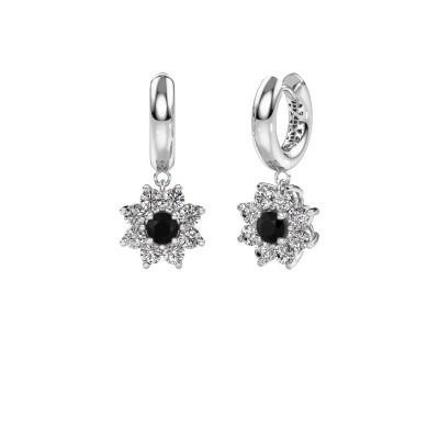 Picture of Drop earrings Geneva 1 950 platinum black diamond 2.44 crt