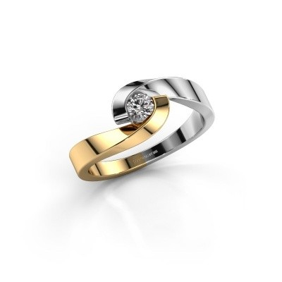 Picture of Engagement ring Sheryl 585 gold diamond 0.20 crt