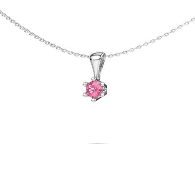 Picture of Necklace Fay 950 platinum pink sapphire 4 mm