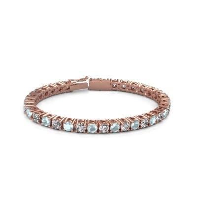 Foto van Tennisarmband Ming 750 rosé goud diamant 17.00 crt