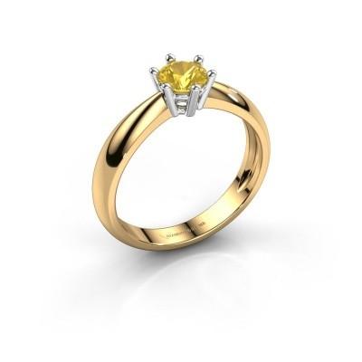 Foto van Verlovingsring Fay 585 goud gele saffier 5 mm