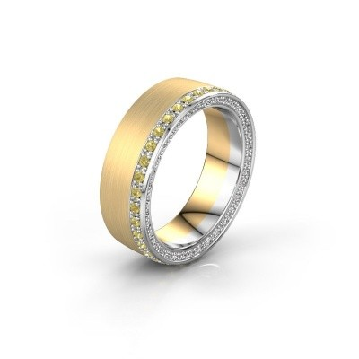 Trouwring WH2224L26C8 585 goud gele saffier 1.3 mm ±6x2.2 mm