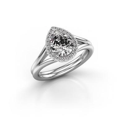 Foto van Verlovingsring Elenore 585 witgoud diamant 1.097 crt