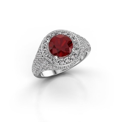 Picture of Ring Dayle 585 white gold ruby 7 mm