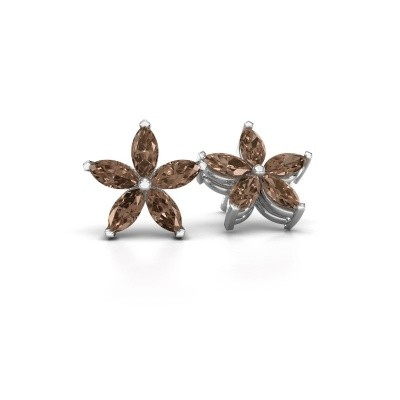 Picture of Stud earrings Sylvana 925 silver brown diamond 1.40 crt