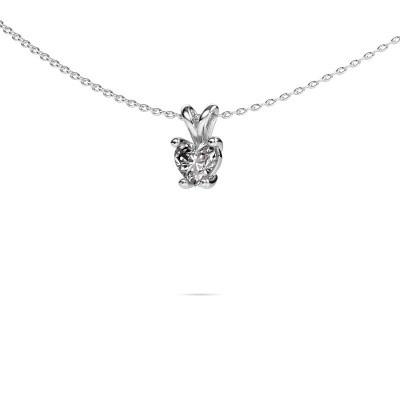 Foto van Ketting Sam Heart 950 platina diamant 0.50 crt