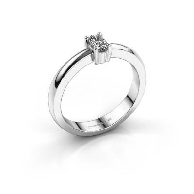 Foto van Verlovingsring Florentina Oval 585 witgoud diamant 0.80 crt