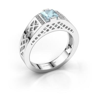 Foto van Heren ring Jonathan 925 zilver aquamarijn 5 mm