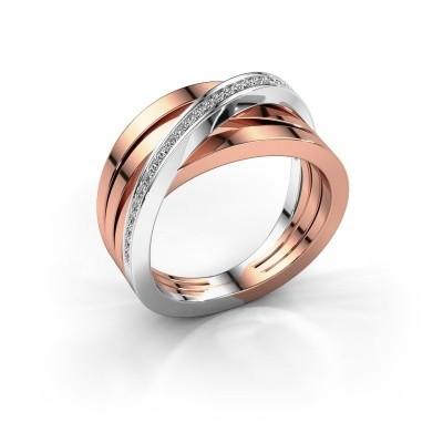 Foto van Ring Esmee 585 rosé goud lab created 0.145 crt