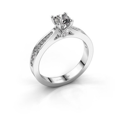 Picture of Engagement ring Evelien 585 white gold diamond 0.70 crt
