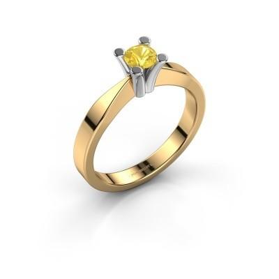 Foto van Verlovingsring Ichelle 1 585 goud gele saffier 4.2 mm