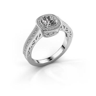 Verlovings ring Candi 585 witgoud diamant 0.775 crt