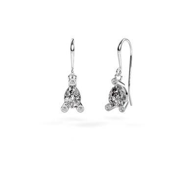 Picture of Drop earrings Bunny 1 950 platinum zirconia 7x5 mm