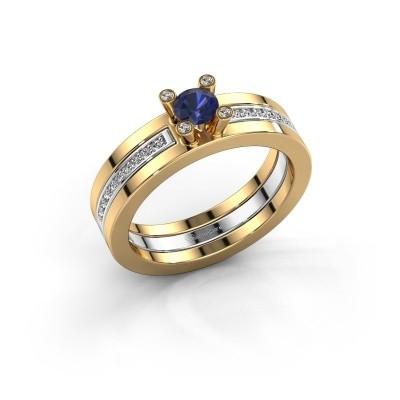 Foto van Ring Alisha 585 goud saffier 4 mm