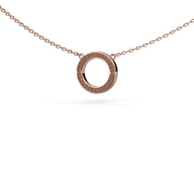 Picture of Pendant Round 1 375 rose gold brown diamond 0.075 crt
