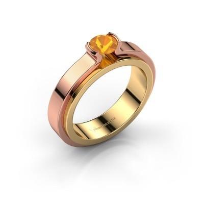 Engagement ring Jacinda 585 gold citrin 4.7 mm