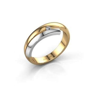 Foto van Ring Shela 585 goud diamant 0.045 crt