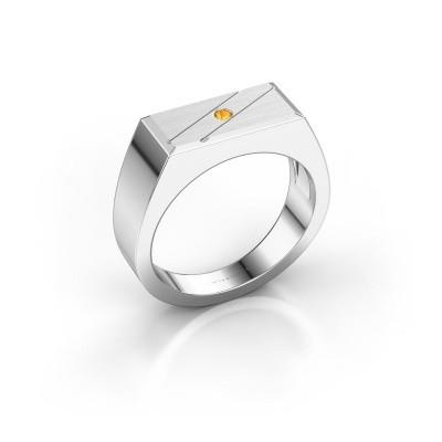 Foto van Heren ring Dree 3 925 zilver citrien 2 mm