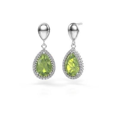 Picture of Drop earrings Cheree 1 950 platinum peridot 12x8 mm