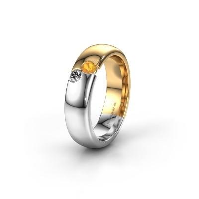 Trouwring WH1003L26C 585 goud citrien ±6x2.2 mm