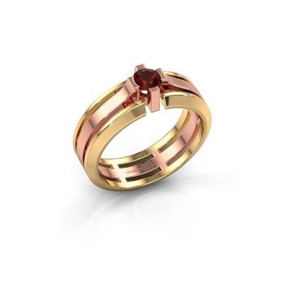 Foto van Heren ring Sem 585 rosé goud granaat 4.7 mm