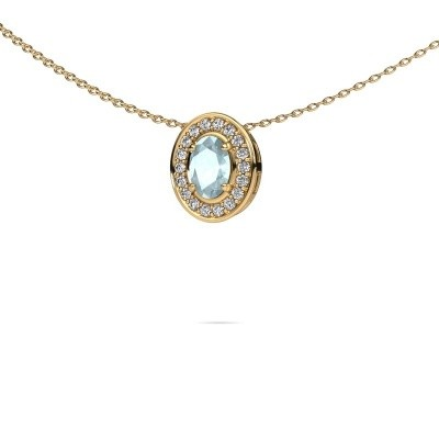 Picture of Necklace Madelon 585 gold aquamarine 6x4 mm