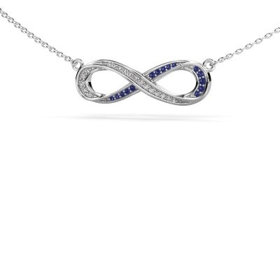 Picture of Necklace Infinity 2 585 white gold sapphire 0.8 mm