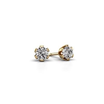 Oorstekers Julia 585 goud diamant 0.50 crt