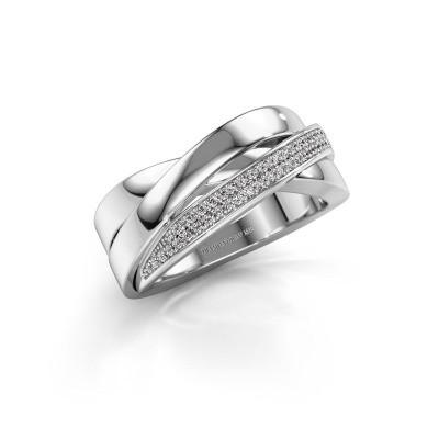 Foto van Ring Katherina 925 zilver diamant 0.255 crt