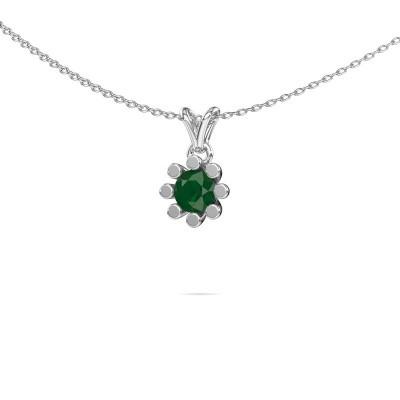 Picture of Pendant Carola 1 925 silver emerald 5 mm
