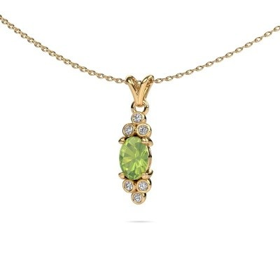 Picture of Pendant Lucy 2 375 gold peridot 7x5 mm