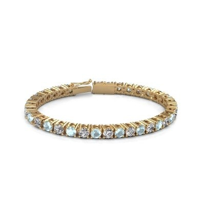 Foto van Tennisarmband Ming 375 goud diamant 17.00 crt
