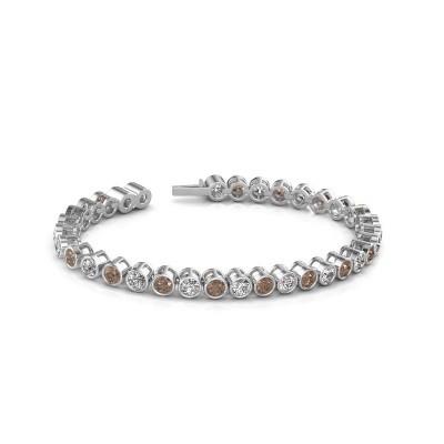 Foto van Tennisarmband Allegra 585 witgoud bruine diamant 8.50 crt